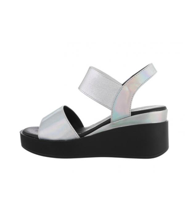 Dámské sandály stříbrné 3193