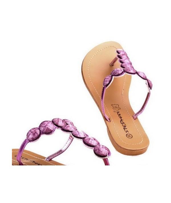 Fuchsiové pantofle, sandály