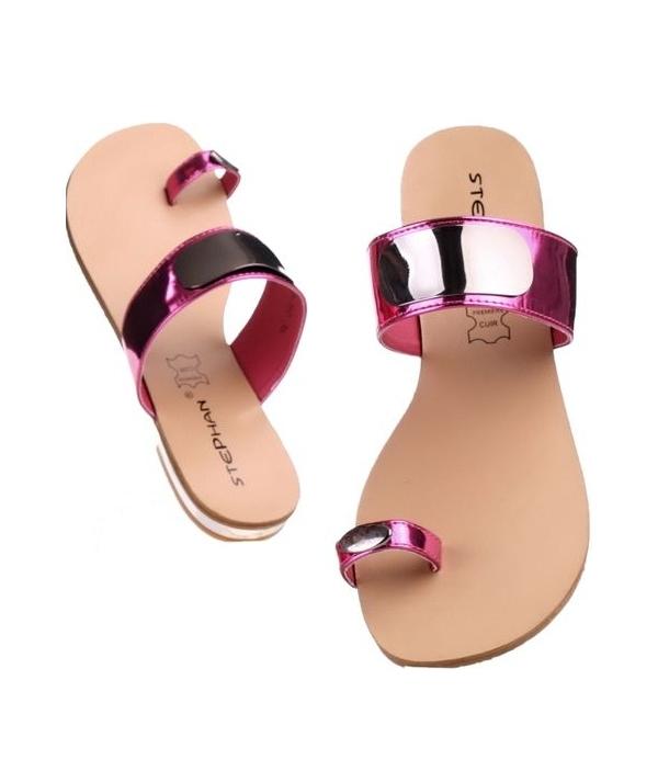 Dámské fuchsiové pantofle