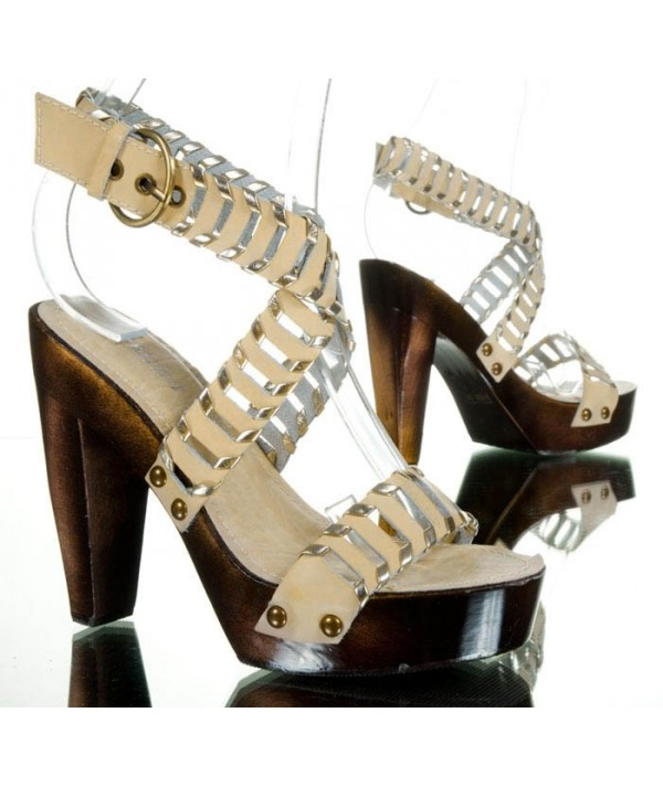 Béžové dámské sandály, lodičky