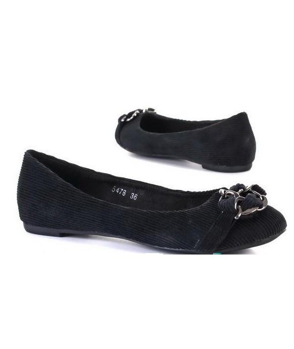 Černé dámské balerínky