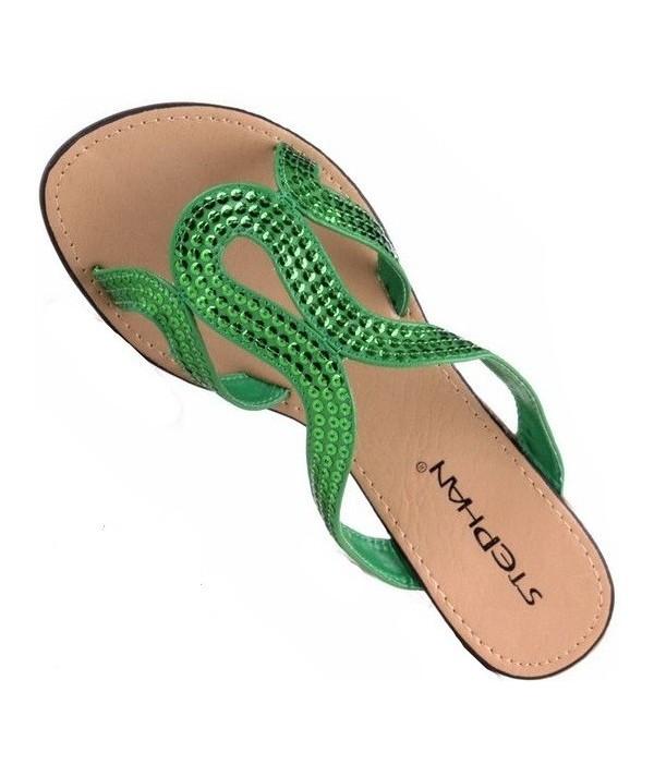 Dámské zelené letní pantofle