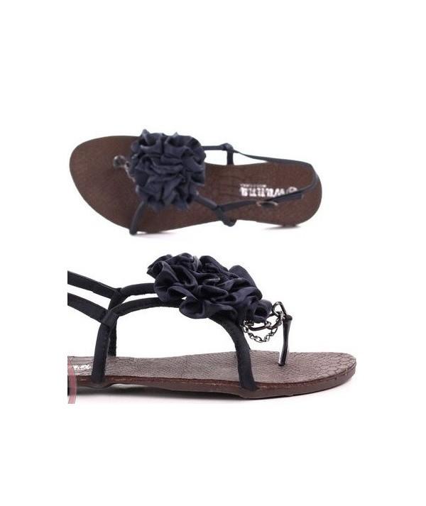 Dámské černé sandály s...