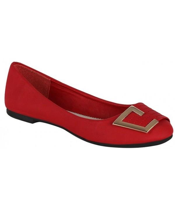 Trendy červené balerínky