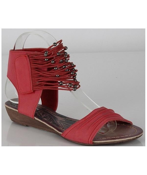 Korálové dámské sandály