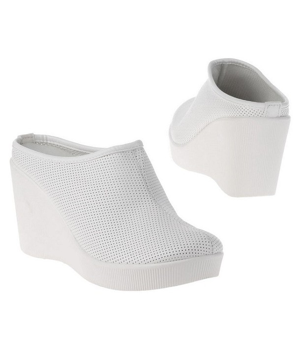 Bílé dámské pantofle na...