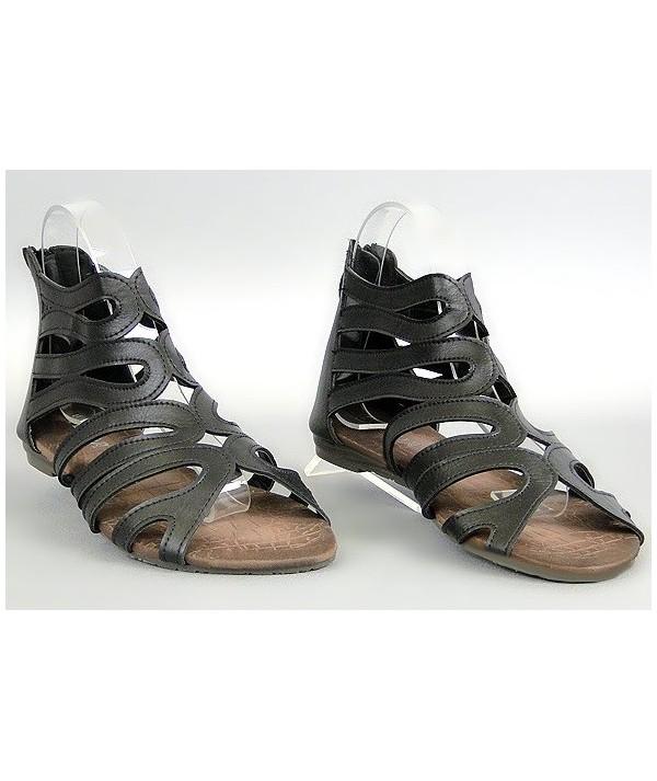 Černé dámské sandály D007
