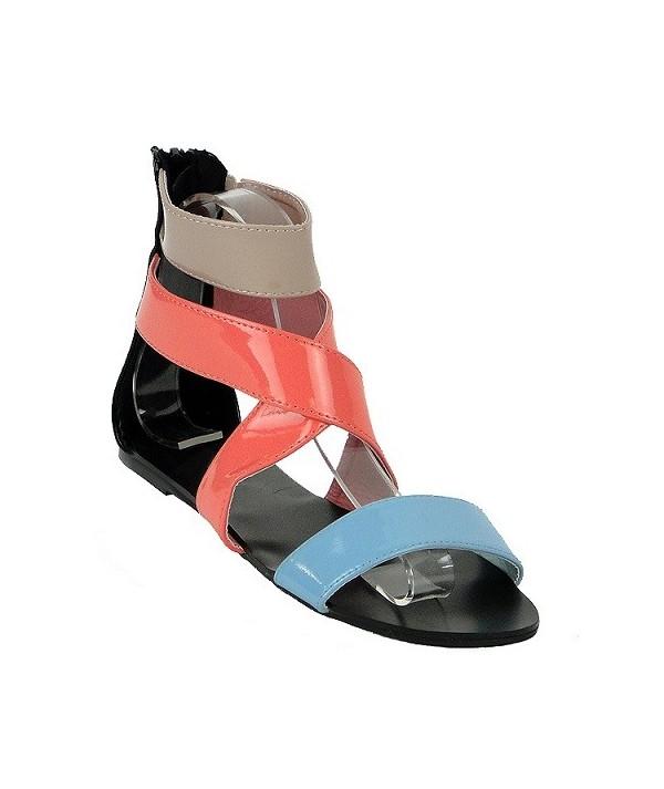 Barevné dámské sandály 55-454