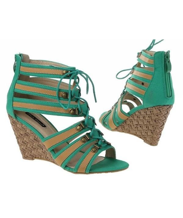 Dámské sandály na klínku -...