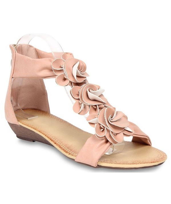 Růžové dámské sandály 466-A1