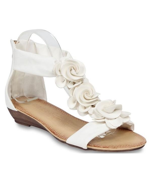 Bílé dámské sandály 466-A1