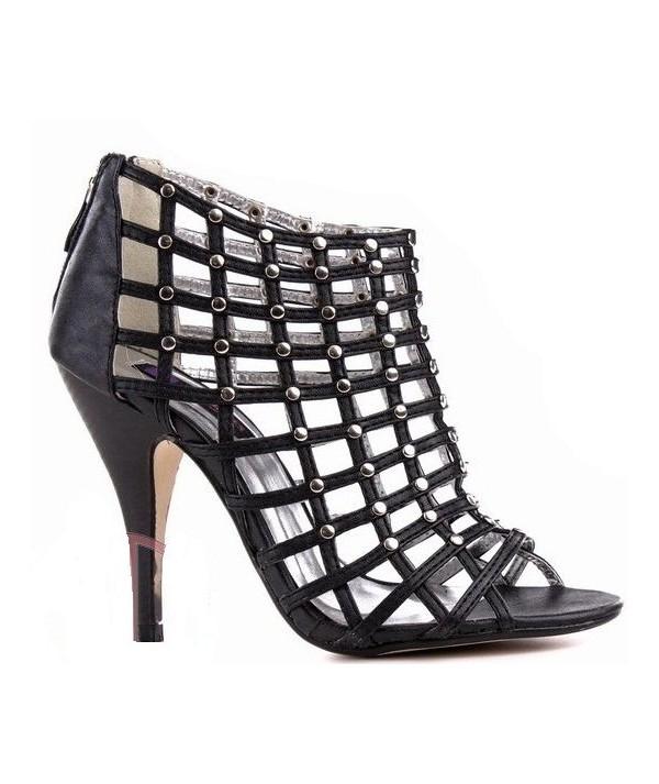 Černé dámské sandály,...