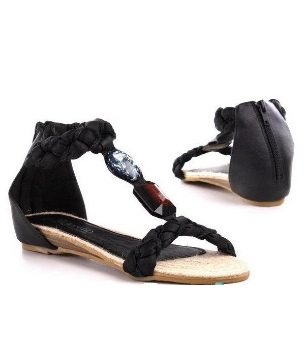 Dámské černé sandály H1501
