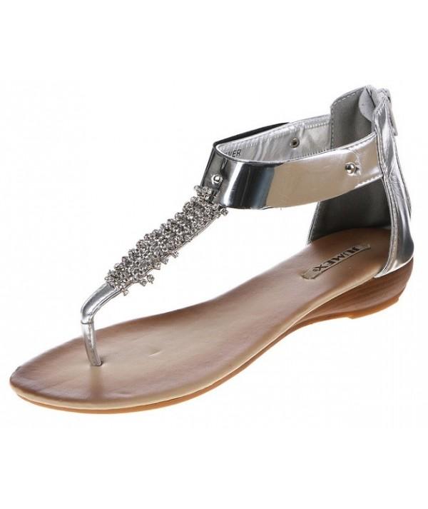 Stříbrné dámské sandály HP...