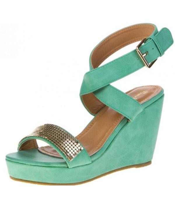 Zelené dámské sandály,...