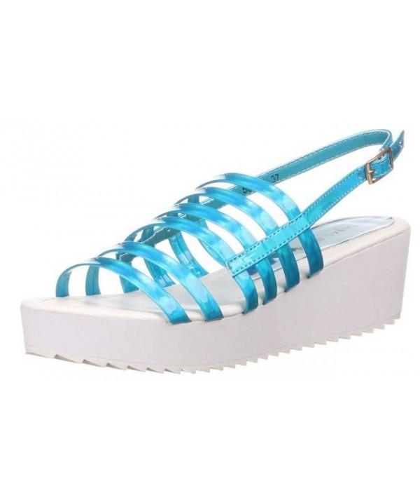 Dámské sandály modré barvy...