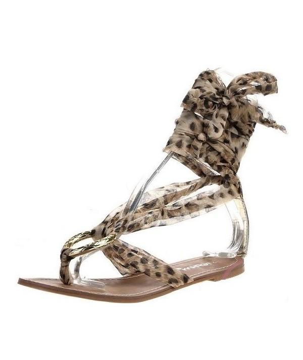 Letní dámské sandály hnědé...
