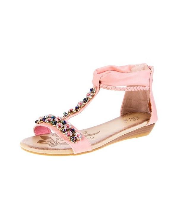 Dámské růžové sandály 0962