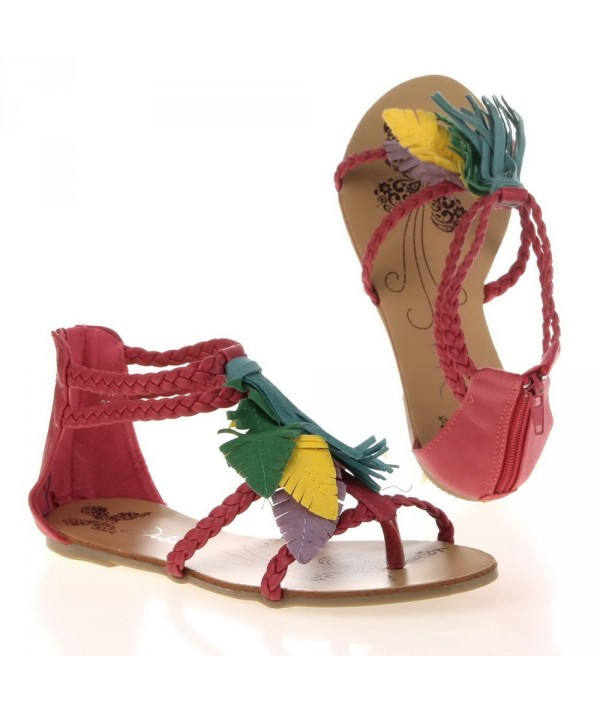 Dámské fuchsiové sandály JA157