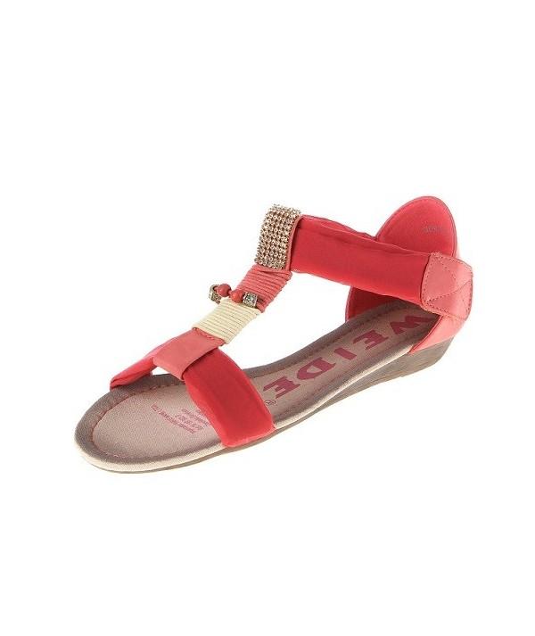Dámské sandály barvy korál GD6