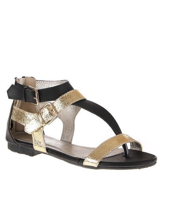 Černo-zlaté dámské sandály...