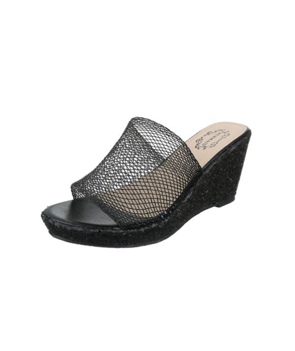 Dámské černé pantofle,...
